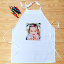 Small Portrait Photo Personalized Kids Apron