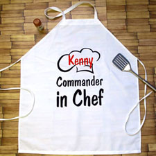 Commander In Chef Personalized Adult Apron