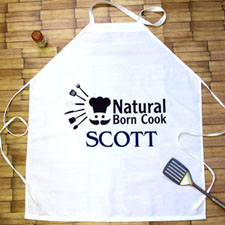Natural Born Cook Personalized Adult Apron