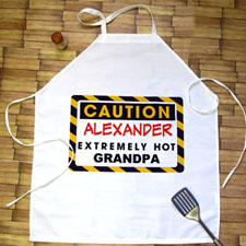 Caution Extremely Hot Personalized Adult Apron