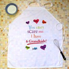 Grandma Colorful Heart Personalized Adult Apron