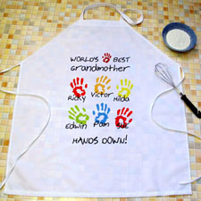 Grandma Hands Down Personalized Adult Apron
