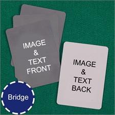 Bridge Size Playing Cards Custom Cards (Blank Cards)