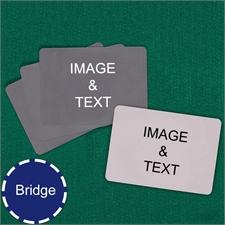 Bridge Size Playing Cards Landscape Custom Cards (Blank Cards)