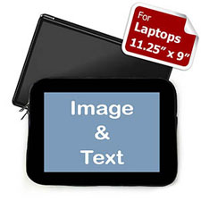 Personalized Photo Black Border Laptop 11