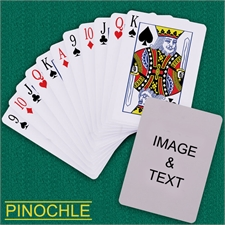 Personalized Poker Pinochle Playing Cards