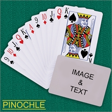 Personalized Poker Pinochle Landscape Playing Cards
