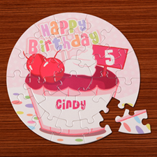 Birthday Girl Round Puzzle