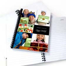 Create Your Own Black Five Collage Two Title Notebook