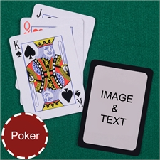 Personalized Poker Size Standard Index Black Border Playing Cards