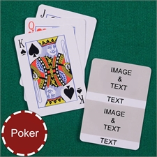 Personalized Poker Size White Two Collage Photo Playing Cards