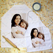 Portrait Photo Personalized Adult Kids Apron Set