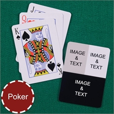 Personalized Poker Three Collage Photo Playing Cards