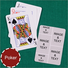 Personalized Poker Size Five Collage Photo Playing Cards