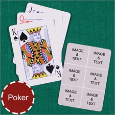 Personalized Poker Six Collage Photo Playing Cards