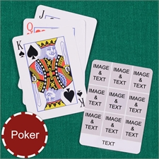 Personalized Poker Size White Nine Collage Photo Playing Cards