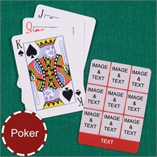 Poker Size Red Nine Collage