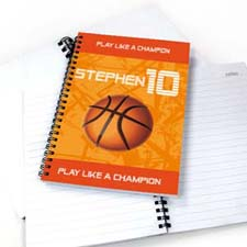 Personalized Sports Star Notebook, Basketball
