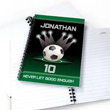 Personalized Sports Star Notebook, Soccer