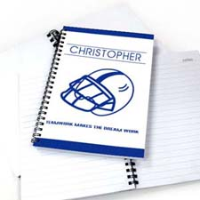 Personalized Baseball Notebook