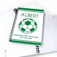 Personalized Soccer Notebook