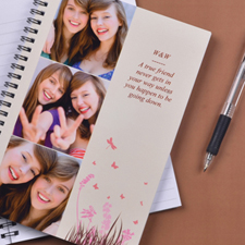 Create Your Own Three Collage Spring In Pink Photo Notebook