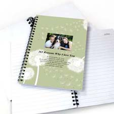 Create Your Own Dandelion Star Photo Notebook