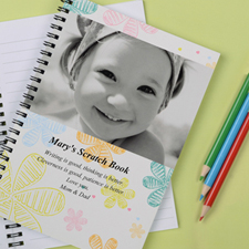 Create Your Own Retro Flowers Photo Notebook