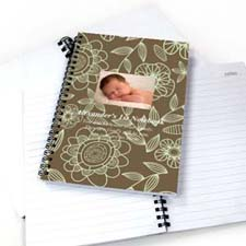 Create Your Own Field Of Flowers Star Photo Notebook