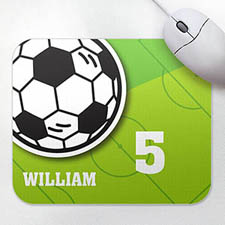 Personalized Athletic Mousepad, Soccer