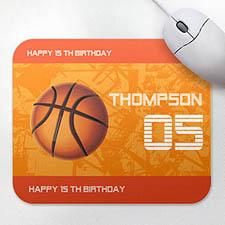 Personalized Sports Star Mousepad, Basketball