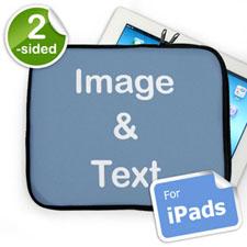 Custom 2-sided iPad Sleeve, Landscape Image