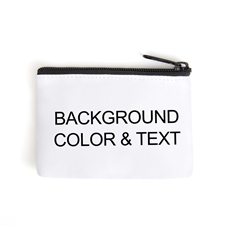 Color & Text Personalized Coin Purse (Different Design)