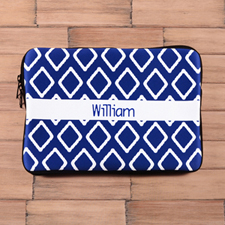 Personalized Name Blue Lkat Macbook Air 11 Sleeve
