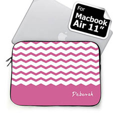Custom Name Lavender Chevron MacBook Air 11 Sleeve