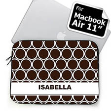 Custom Name Chocolate Hoopla MacBook Air 11 Sleeve