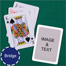 Bridge Size Playing Cards Standard Index White Border