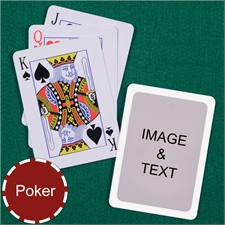 Personalized Poker Size Standard Index White Border Photo Playing Cards