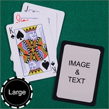 Personalized Large Size Standard Index Black Border Playing Cards
