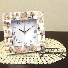 16 Collage Roman Face Personalized Clock