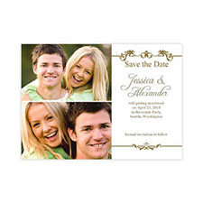 Label of Love Collage Save the Date