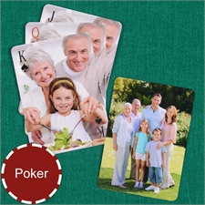 Personalized Simple Custom 2 Side Photo Playing Cards