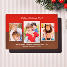 Create Merry Modern Collage Red Fridge Magnets
