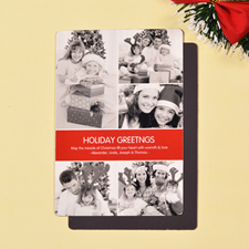 Create Red 5 Photo Peace Holiday Magnets