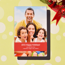 Create Merry Kissmass  Red Photo Magnets