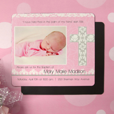 Inviting Scripture Girl Baptism 3.5X4 Photo Magnet