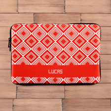 Personalized Name Red Diamonds Macbook Air 13 Sleeve