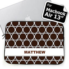 Custom Name Chocolate Hoopla MacBook Air 13 Sleeve