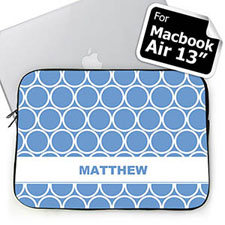 Custom Name Sky Blue Hoopla MacBook Air 13 Sleeve