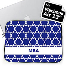 Custom Initials Blue Hoopla MacBook Air 13 Sleeve